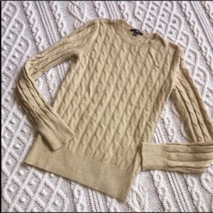 Stunning SOFT Cable Knit - Angora - The Gap Sz S
